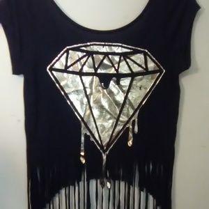 Dripping Diamond Black T-shirt